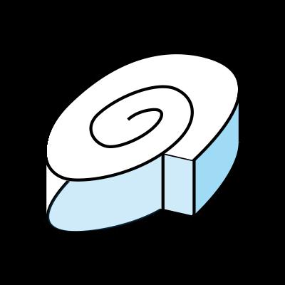 Roll bubble gum